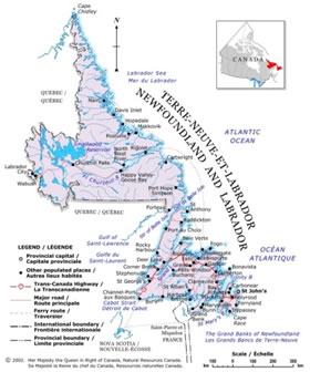 Newfoundland and Labrador Map